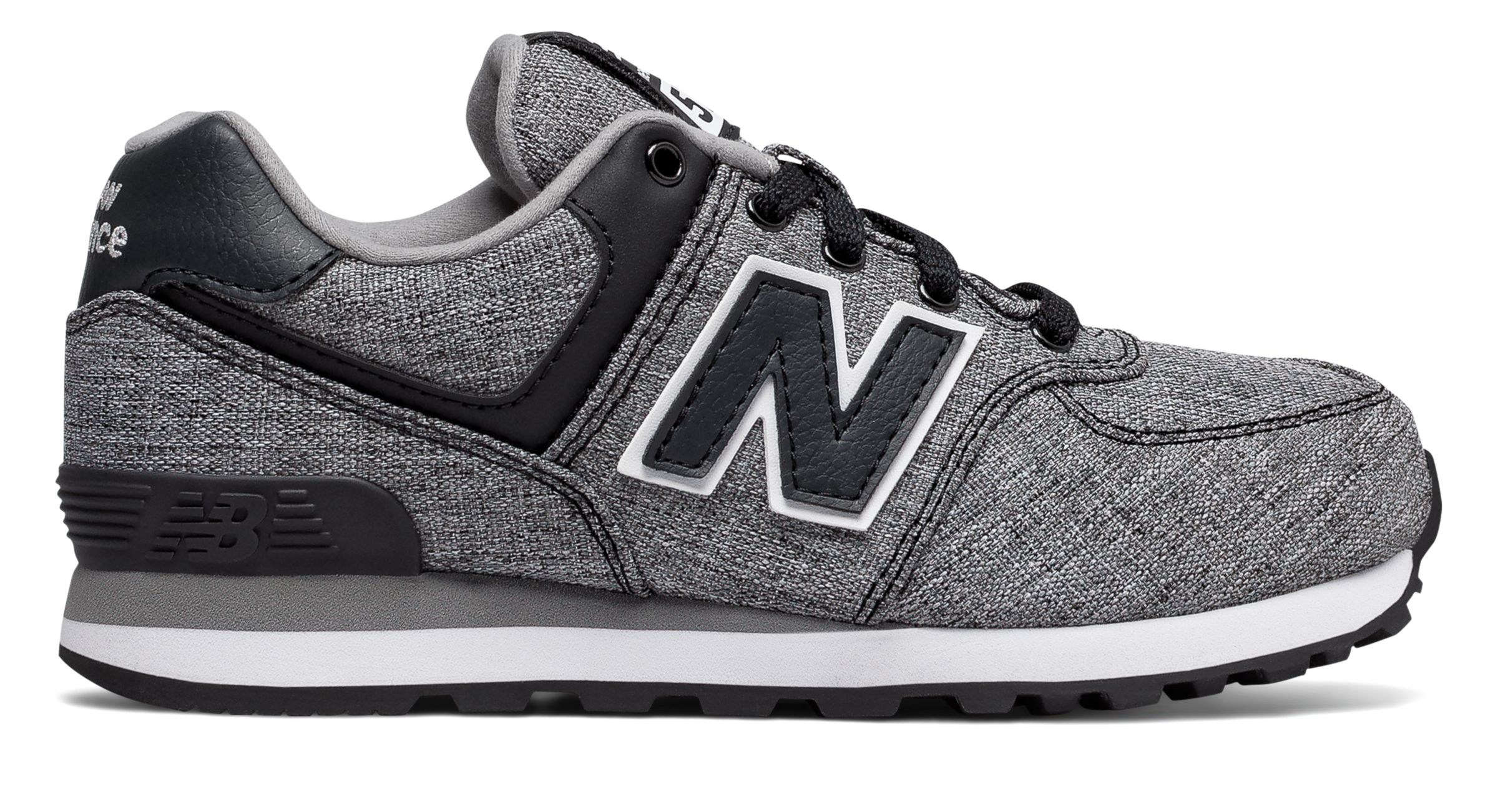 NB 574 Leisure, Black with White