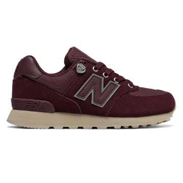 New Balance 574 Outdoor Activist, Burgundy with Off White