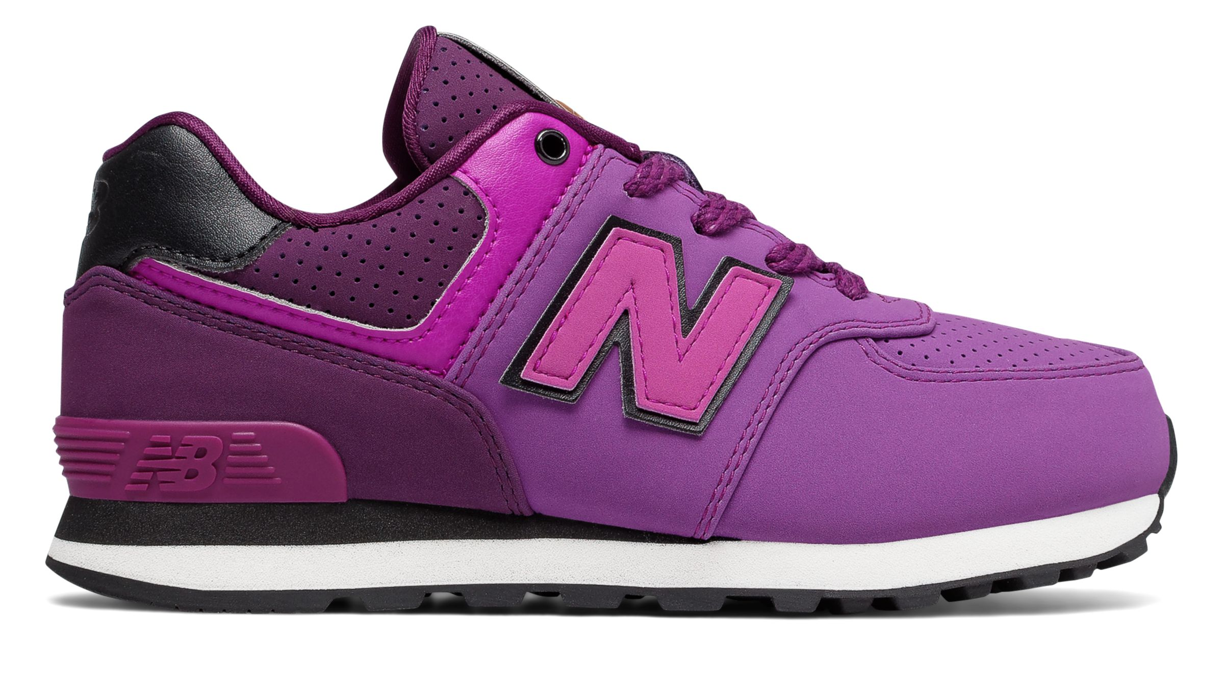 NB 574 New Balance, Purple with Black