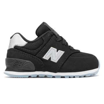 New Balance 574 Luxe Rep, Black