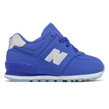 New Balance 574 Luxe Rep, Fluorescent Blue
