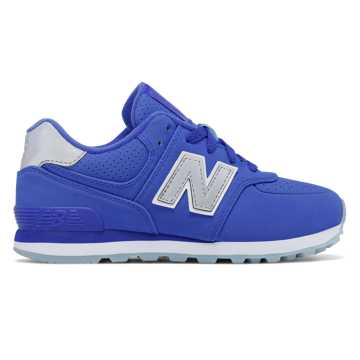 New Balance 574 Luxe Rep, Fluorescentt Blue