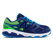 NB New Balance 680v3, Blue with Neon Green