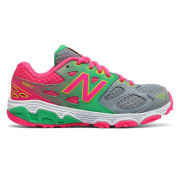 New Balance New Balance 680v3, Grey with Pink Glo & Lime Glo