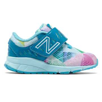 New Balance Hook and Loop Electric Rainbow 200, Vivid Ozone Blue with Ozone Blue Glow & Multi Color