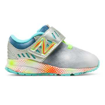 New Balance Hook and Loop Electric Rainbow 200, Grey with Multi Color