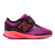 New Balance Hook and Loop 200, Black with Pink