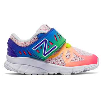 New Balance Hook and Loop 200, White with Rainbow