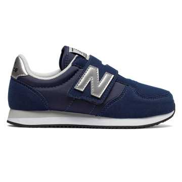 New Balance Hook and Loop 220, Navy with Silver