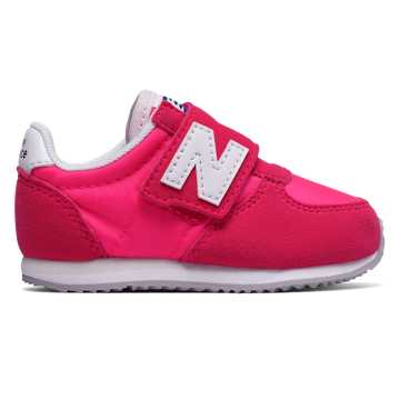 New Balance 220 Hook and Loop, Pink with White