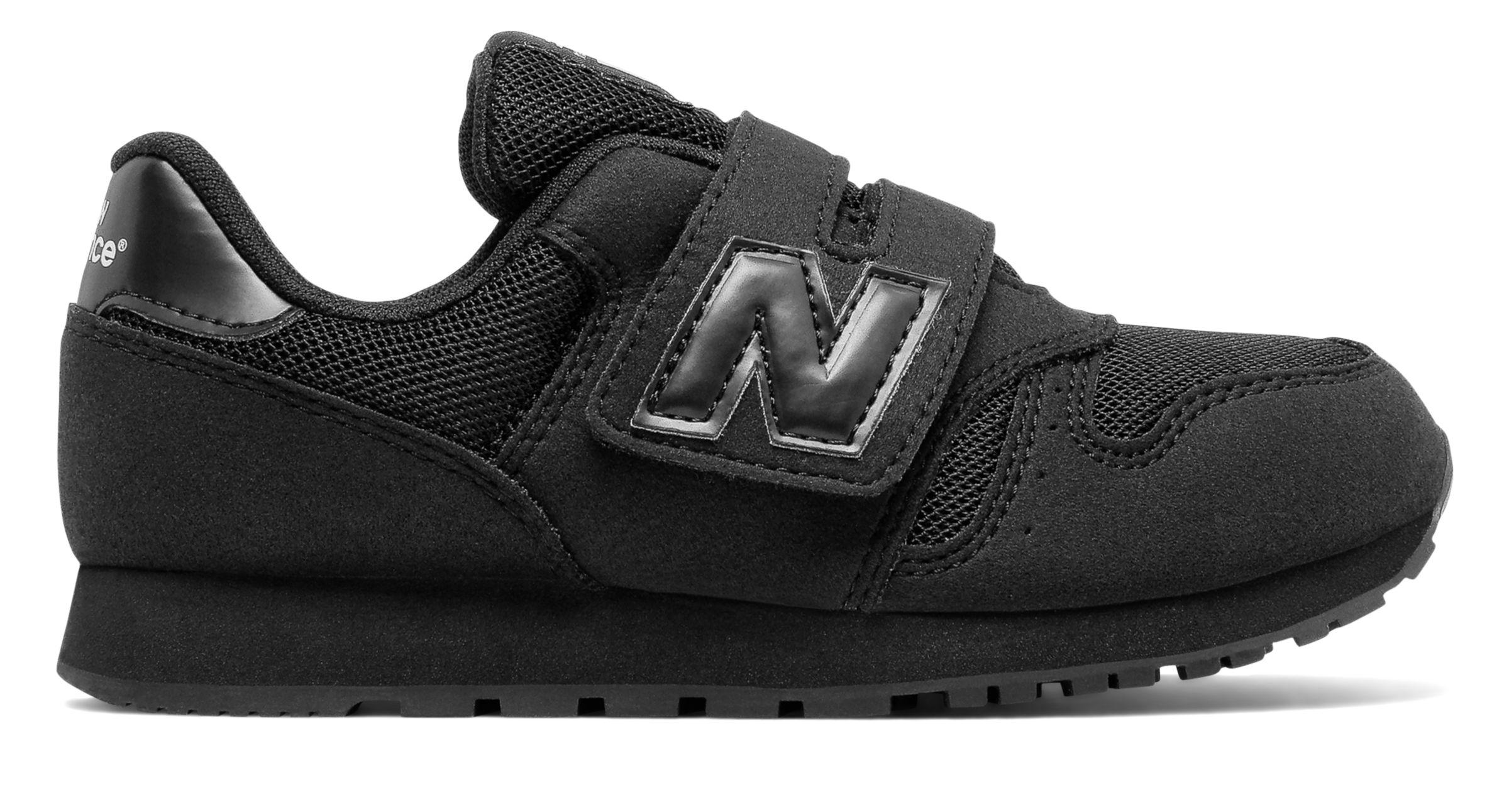 NB 373 New Balance, Black with Army Black & White