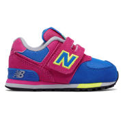 NB 574 Cut and Paste Hook and Loop, Pink Zing with Baltic