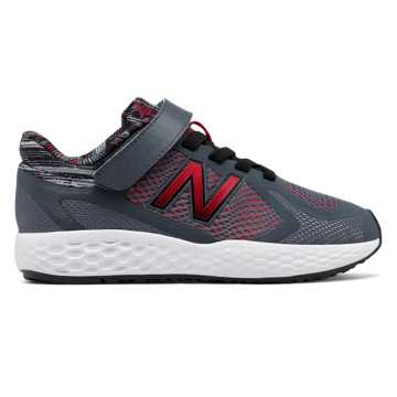 New Balance Hook and Loop 720v4, Dark Grey with Red