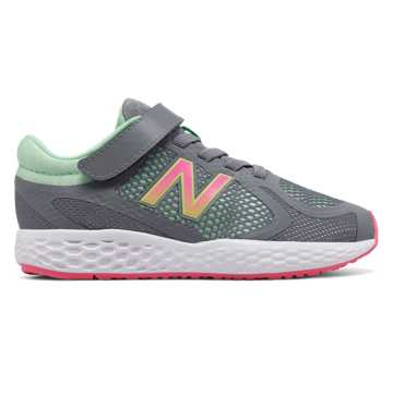 New Balance Hook and Loop 720v4, Grey with Pink Glo & Mint