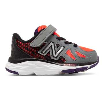 New Balance Hook and Loop 790v6, Orange with Grey