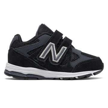 New Balance Hook and Loop 888, Black with Grey
