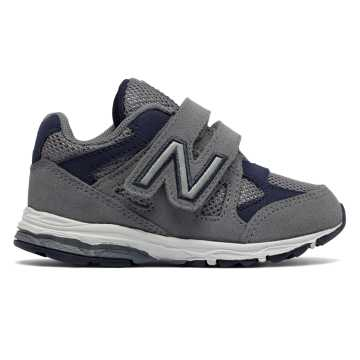 New Balance Hook and Loop 888, Grey with Navy