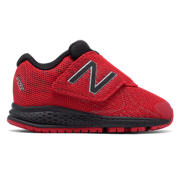 New Balance Hook and Loop Vazee Rush v2, Red with Black