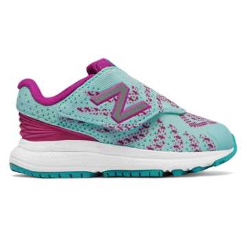 New Balance Hook and Loop FuelCore Rush v3, Blue with Pink