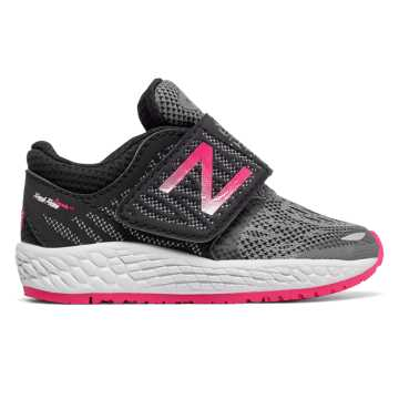 New Balance Hook and Loop Fresh Foam Zante v3, Black with Pink