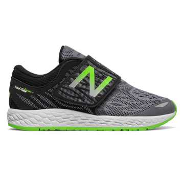 New Balance Hook and Loop Fresh Foam Zante v3, Black with Green