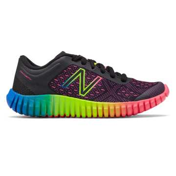 New Balance New Balance 99v2 Trainer, Black with Pink & Rainbow