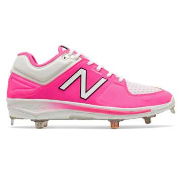 New Balance Mothers Day Pink Ribbon Low-Cut 3000v3, Fluorescent Pink with White