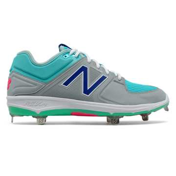New Balance Low-Cut 3000v3 Coumarin Pack, Grey with Aquamarine & Vivid Blue