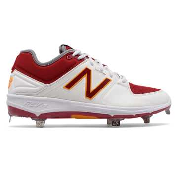 New Balance Low-Cut 3000v3 Coumarin Pack, White with Burgundy & Alpha Orange