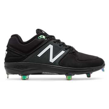 New Balance New Era Low-Cut 3000v3 Metal Cleat, Black with Oil Slick