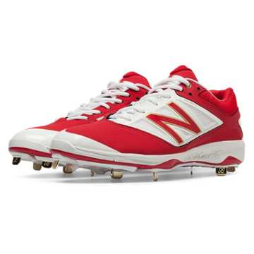 New Balance Low-Cut 4040v3 Metal Cleat, Red with White