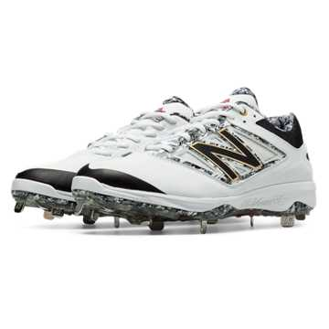 New Balance Pedroia Metal 4040v3, White with Grey & Light Grey