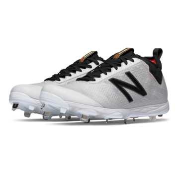 New Balance Low-Cut Metal 406, White with Black