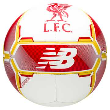 New Balance LFC Dispatch Ball, White with High Risk Red & Amber Yellow