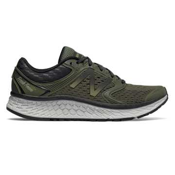 New Balance Fresh Foam 1080v7, Olive Green with Black