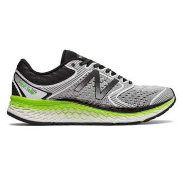 New Balance Fresh Foam 1080v7, White with Energy Lime