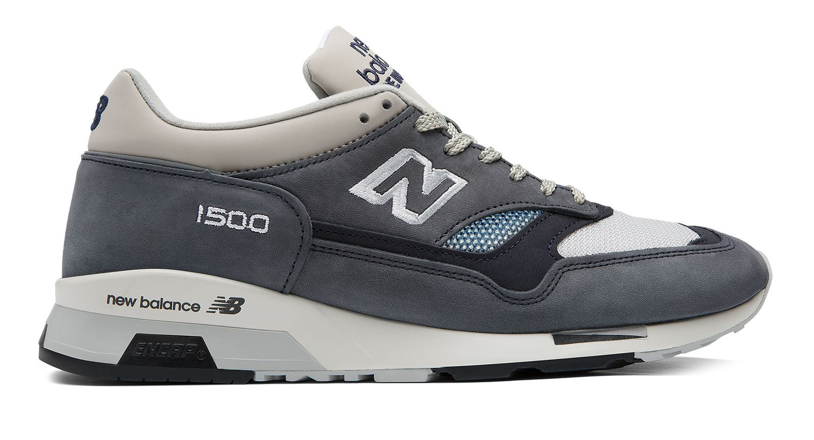 NB 1500 Nubuck, Grey with Navy