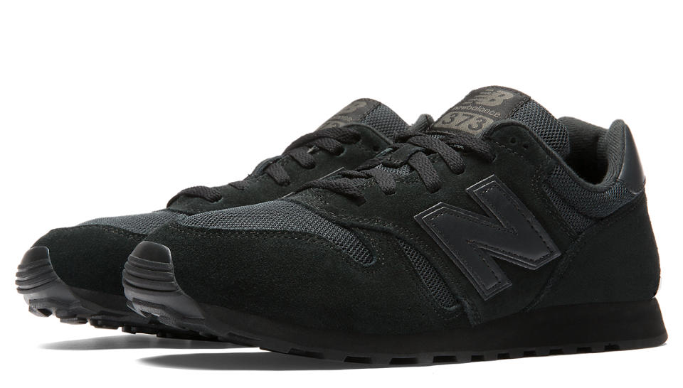 new balance 373 black grey white