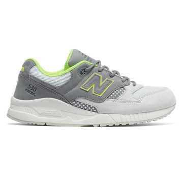 New Balance 530 New Balance, Steel with Artic Fox & Lime Glo