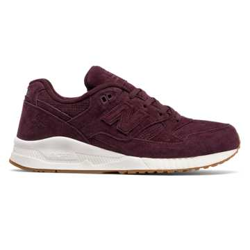 New Balance 530 Lux Suede, Supernova Red