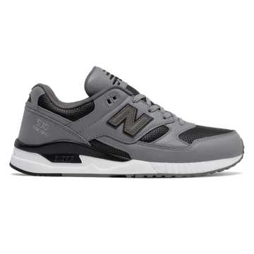 New Balance 530 Lux Leather, Steel with Black
