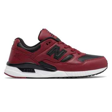 New Balance 530 Lux Leather, Biking Red with Black