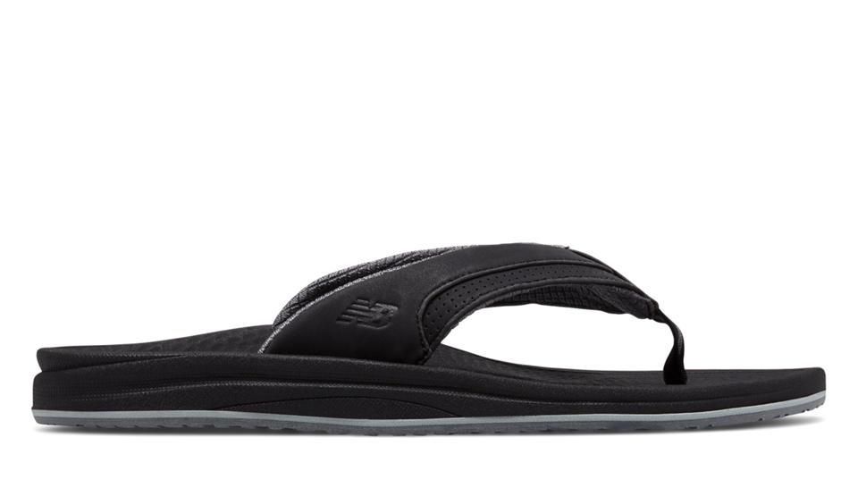Womens New Balance Purealign Black Flip Flops Z18027