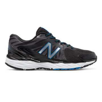 New Balance New Balance 680v4, Black with White & Electric Blue