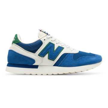 New Balance 770 Made in UK Cumbrian Pack, Blue with White & Green