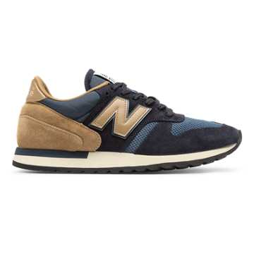 New Balance 770 Made in UK Suede, Navy with Beige