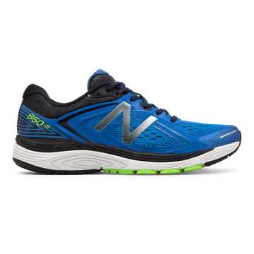 New Balance 860v8, Vivid Cobalt Blue with Energy Lime & Black