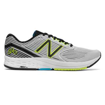New Balance 890v6, White Munsell with Black & Hi-Lite