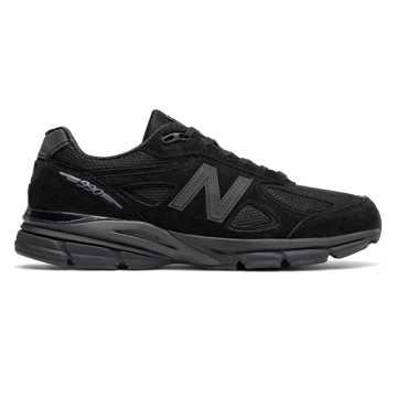 New Balance 990v4复古鞋 男款 缓震支撑 美产经典, 黑色