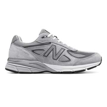 New Balance Mens 990v4 Made in US, Grey with Castlerock